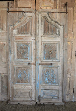 Pale Wood Entrance Gate Doors, Western Rajasthan circa 1870 <b>SOLD<b>